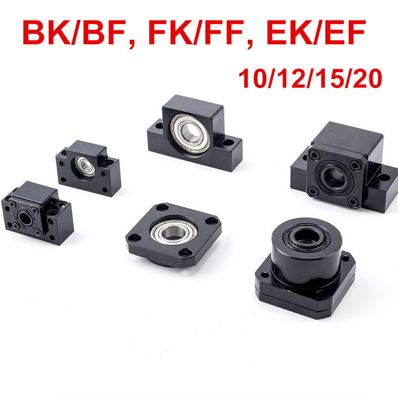 BK BF Set: BK10 BF10 BK12 BF12 BK15 BF15 BK20 BF20 for SFU1204 SFU1605 SFU2005 BallScrew End Support CNC parts ballscrew end supports for cnc machine parts bk bf10 bk bf12 bk bf15 bk bf17 bk bf20 bk bf25 use sfu1204 1604 1605 2005 2010