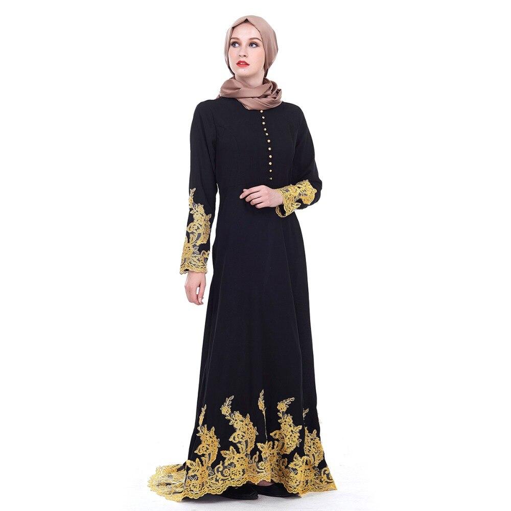 78f8c436ada Casual Grande Taille Islamique Kaftan Robe Include Abaya Noir Turc Vêtement  Femmes Noire Arabe Not Z80504 ...