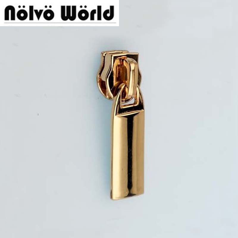 30pcs 6 Colors Rose Gold 3cm Size 5 Nylon Coil Zipper Head + Zipper Puller Slider Metal For Replace Bags Purse Clothing