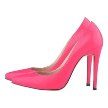 Classic Fashion Women Pointed Toe Red Bottom High Heels Sexy Leather Women Shoes Pumps