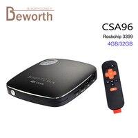RK3399 4 GB + 32 GB Android 6.0 TV Box Rockchip Dual ARM Cortex-A72 Quad Cortex-A53 64-bit 4 K Wifi CSA96 Smart Mediaspeler PK CSA93