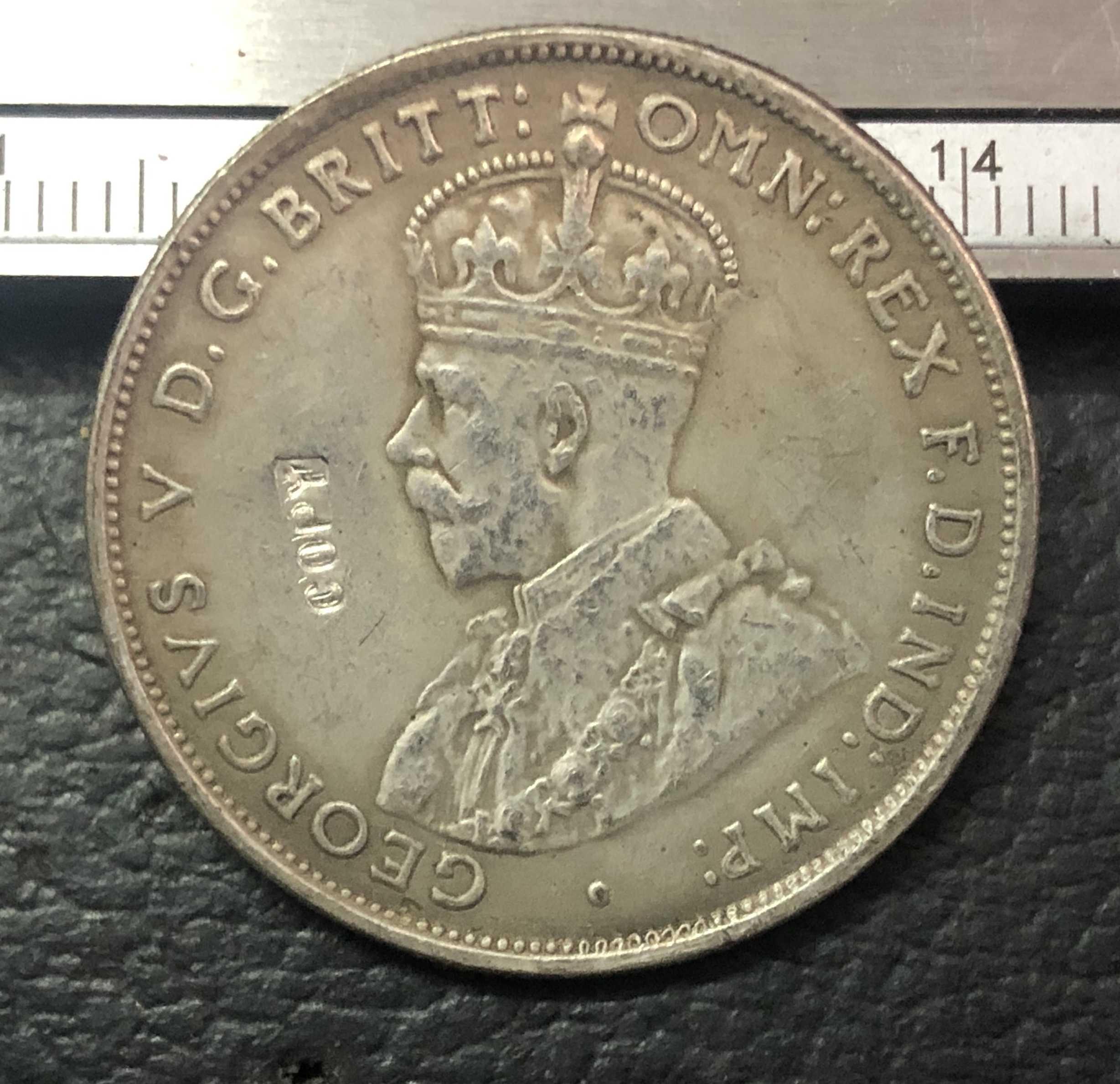 1935 In Australia 1 Florin-George V Argento Placcato Copia Moneta