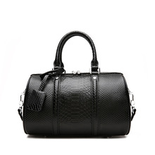 Luxury Handbag Women Bags  Designer Crocodile Printed  Genuine Leather Tote Bags Boston Bag Famous Brand Shoulder Handbags 2019