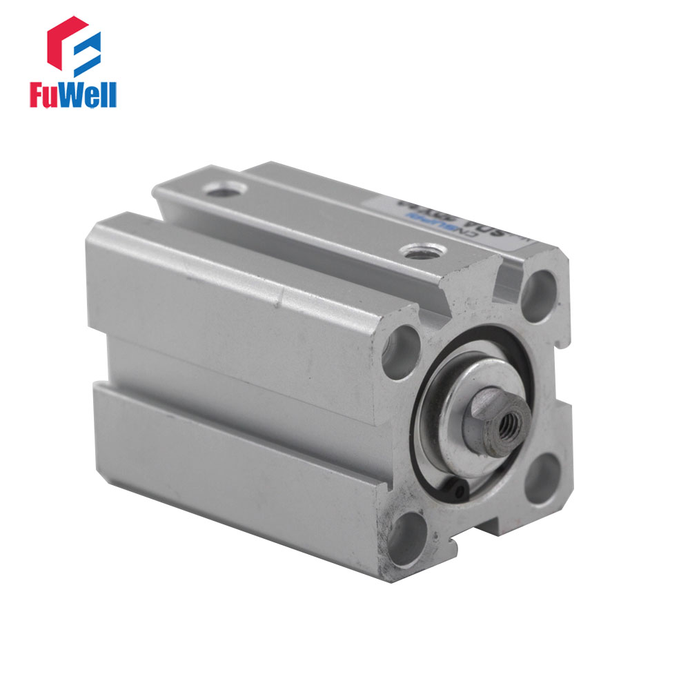 Aluminum Alloy SDA Pneumatic Cylinder 20mm Bore 5/10/15/20/25/30/40/50mm Double Action Pneumatic Air Cylinder 1pc cxsm series stroke dual rod cylinder double action twin rod air cylinder cxsm15 10 15 20 15 30 15 40 15 50 15 60 15 70 15 75