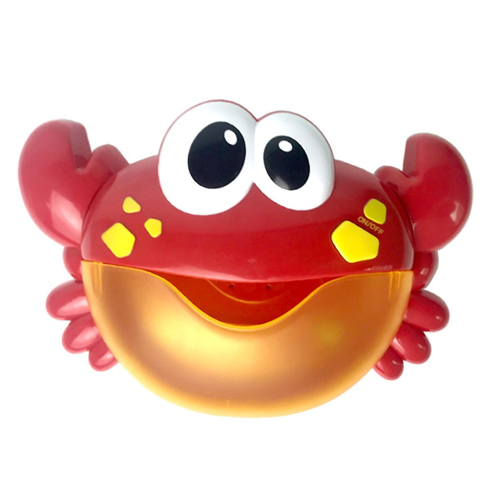 Educational Shower Toy Kid Big Crab Automatic Bubble Maker Blower Music Song Bath Toy Outdoor Baby