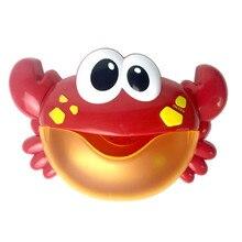 Развивающие игрушки для ванной малыш большой краб автоматический Bubble Maker нагнетателя воздуха Музыка песни игрушки ванны открытый детские игрушки для ванной оптовая продажа A889