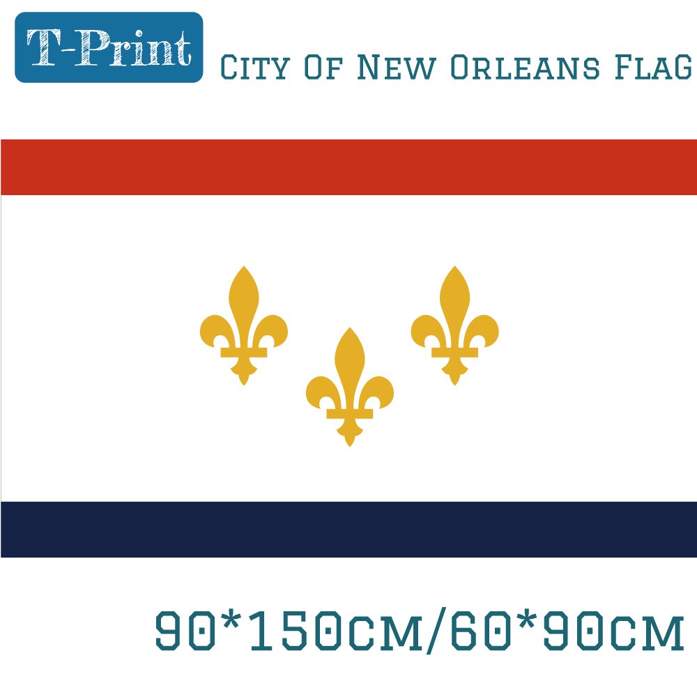 USA State of Louisiana City Of New Orleans 3x5ft Flying Hanging Flag 90*150cm 60*90cm Flag Banners For Campaign Office image