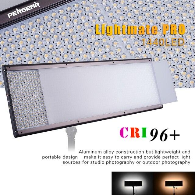 Pergear Lightmate Pro CRI 96+ 87W 1440 LED Video Light Panel 3200~5500K Dimmable LED Flat Panel Studio Light for Photography