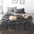 2019 Nuovo capelli Lunghi In Pile set di biancheria da letto 5 pz/set (copripiumino + lamiera piana + 2 federa + 1 cuscino) flanella inverno caldo biancheria da letto set