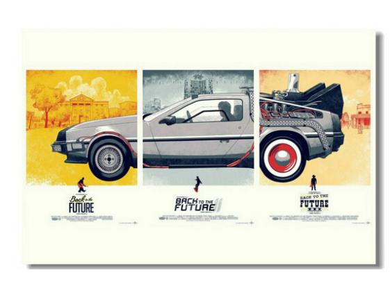 Hot Back To The Future 2 Poster Custom Satin Poster Print Cloth Fabric Wall Poster Print Silk Fabric Print Poster