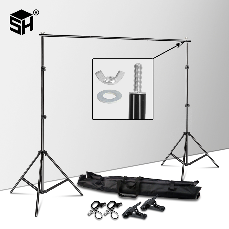2MX2M Backdrops Frame Background Support System Photography Studio Background Holder Camera & Photo Accessories + Carry Bag