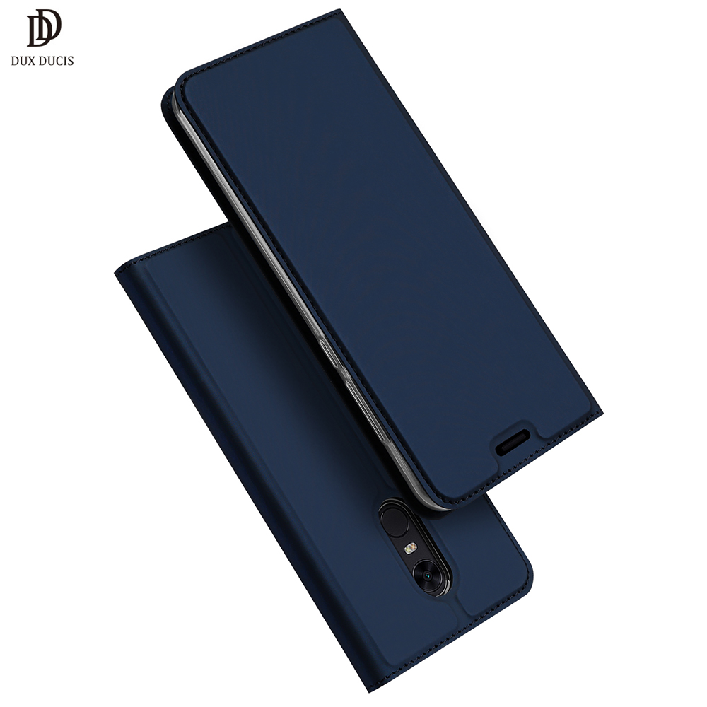 DUX DUCIS Leather Flip Case For Xiaomi Redmi 5 Plus Redmi5 Luxury Wallet Cover for Xiomi Redmi 5 5Plus 64GB Phone Cases Coque