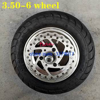 Free Shipping New 10 Inch Electric Scooter Wheel with Hub 3.50-6 Vacuum Road Tyre with Brake Disc Fits Folding Electric Scooter