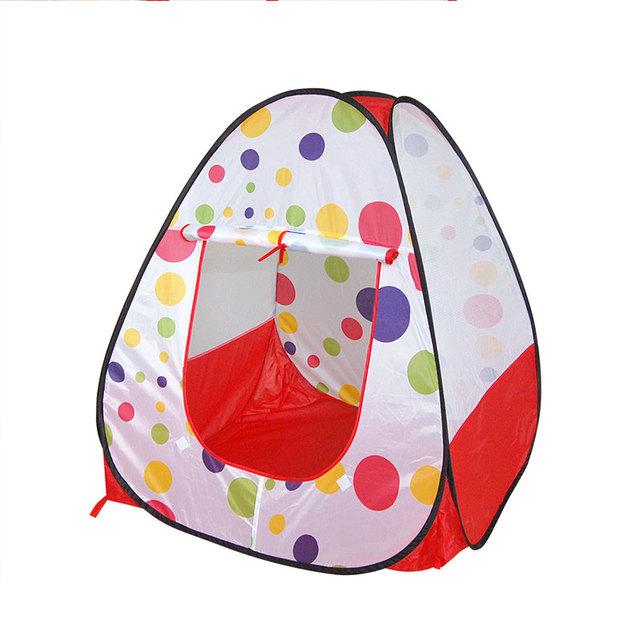 Los mejores regalos de cumpleaños Para Niños tienda de campaña tipo juego de la piscina/Juguete casa/Al Aire Libre piscina de bolas Portátil y Plegable Colorido de lunares patrón