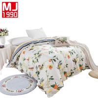 Lovely Quilt Cover 100% Cotton Material Rabbit Bird Flowers Modern Printing Duvet Cover 4 sizes High Quality Happy Sleep 1Pcs