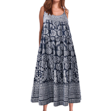 Women's print dress Summer V-neck Vacation Casual Bohemian