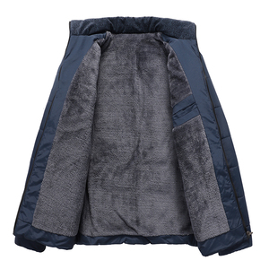 Image 5 - חורף מותג גברים מעיל פרווה הוד עם קשמיר בתוספת גודל 5XL חורף מעיל באיכות גבוהה אופנה גברים של מעיל מכירה לוהטת כותנה חליפה