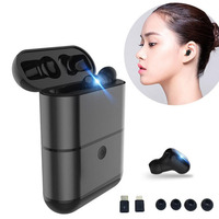 New Wireless Bluetooth Mini Headset Binaural Fone De Ouvido Stealth Stereo Tws Handsfree Earphones Charge Case MGR X2
