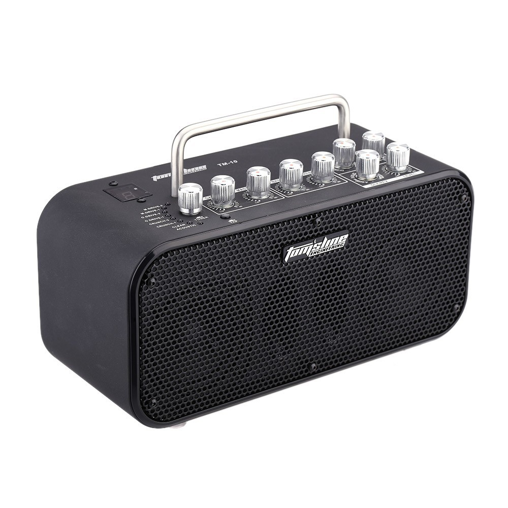 AROMA TM-10 Aroma 10W DSP electric Guitar Amplifier with chorus flanger phaser tremolo effect Build-in Tuner 8 Preset SoundAROMA TM-10 Aroma 10W DSP electric Guitar Amplifier with chorus flanger phaser tremolo effect Build-in Tuner 8 Preset Sound