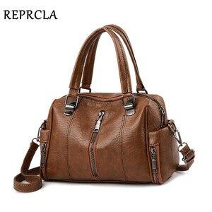 Image 1 - REPRCLA Luxury Women Bag Designer Leather Handbag Fashion Pillow Shoulder Bags Crossbody Female Tote Hand Bags Brand Bolsos