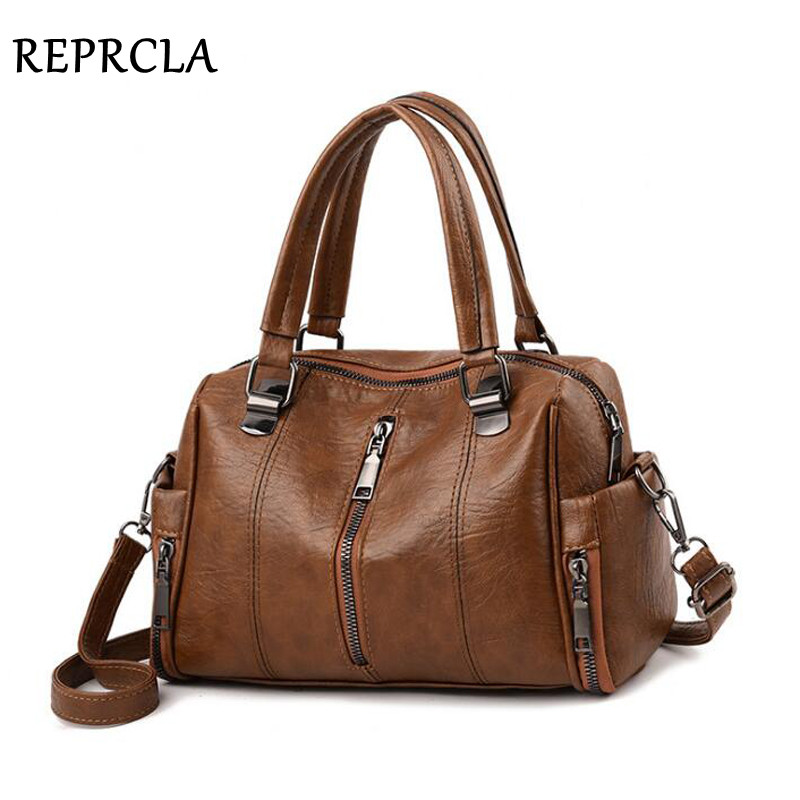 REPRCLA Luxury Women Bag Designer Leather Handbag F