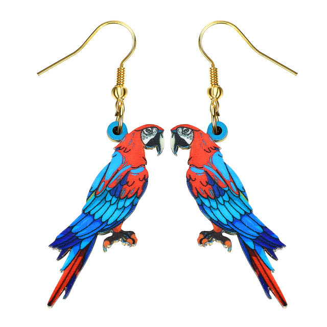 Drop Parrot Earrings Acrylic Long Dangle News Spring Summer S Women Jewelry Accessories Fashion