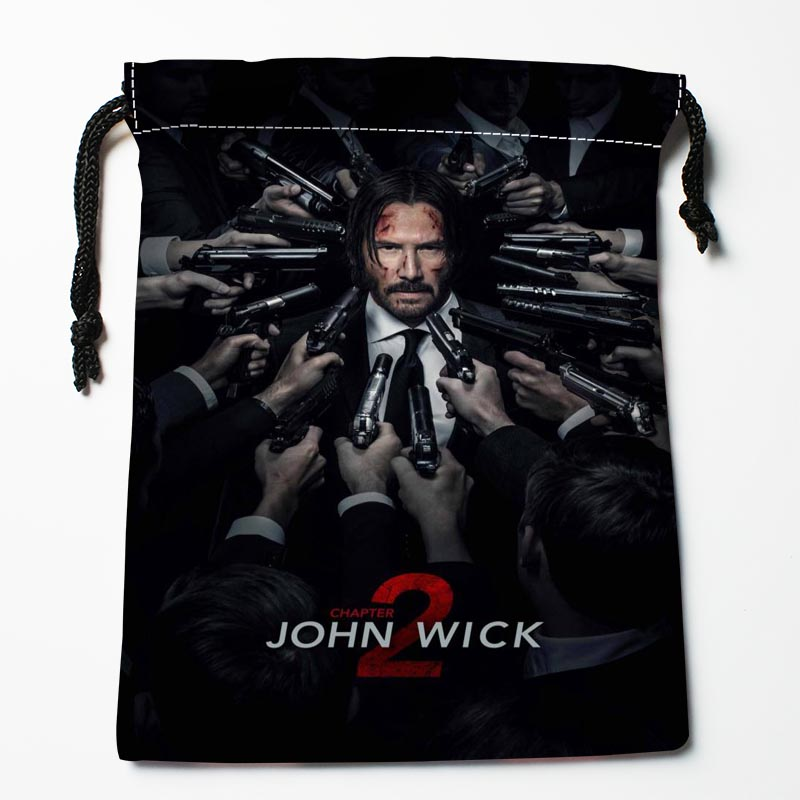 New Arrive John Wick Drawstring Bags Custom Storage Bags Storage Printed Gift Bags More Size 27x35cm DIY Your Picture