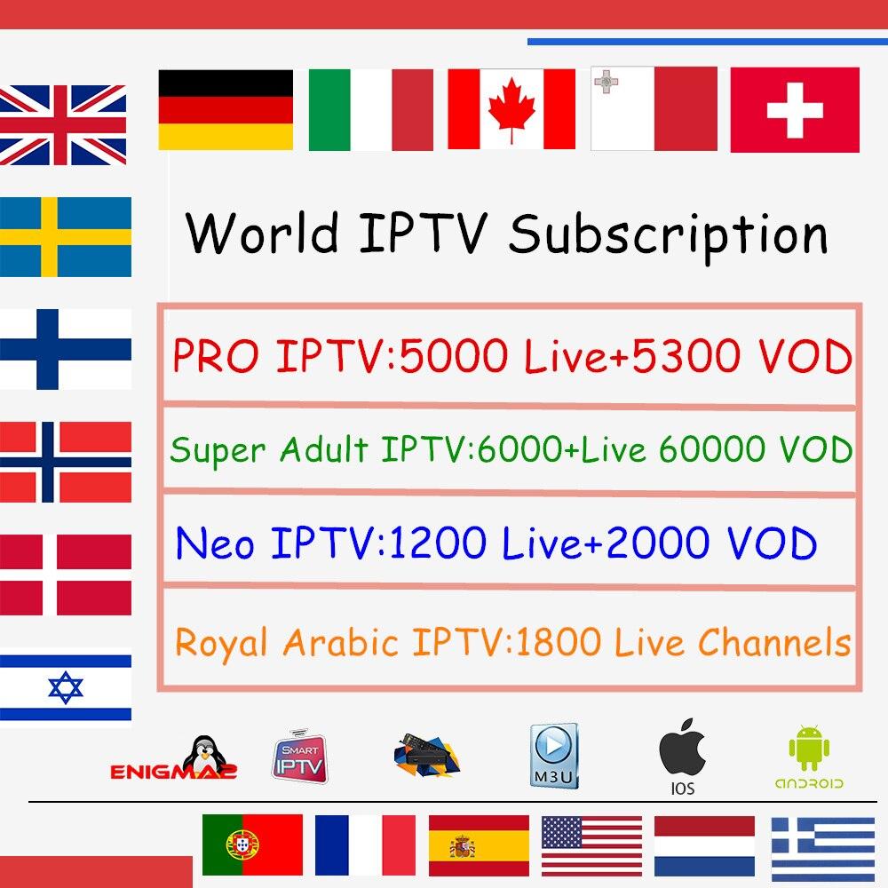X96mini Welt IPTV Abonnement Android 7.1 tv box Nordic Dutch Frankreich Spanien UK Schwedisch USA iptv + Erwachsene xxx Smart set top TV box