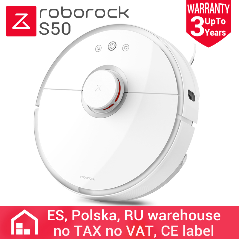 Roborock S50 Version internationale Xiao mi mi Robot aspirateur 2 balayage et bouclage 2 Modes Patch de planification Intelligent