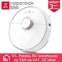 Roborock S50 Version internationale Xiao mi mi Robot aspirateur 2 balayage et bouclage 2 Modes Patch de planification Intelligent