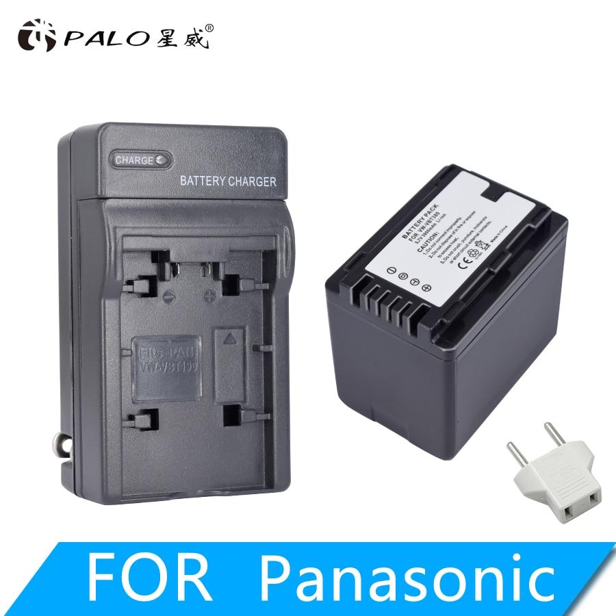 1Pc 3900mAh VW VBT380 VW VBT190 Battery+Charger Plug for Panasonic HC V720,HC V727,HC V730,HC V750,HC V757,HC V760,HC V770