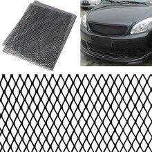 Универсальная алюминиевая решетка для кузова автомобиля 100x33 см, сетчатая решетка для гриля, сетка для гоночных грилей, черный/серебристый цвет, отправка в случайном порядке