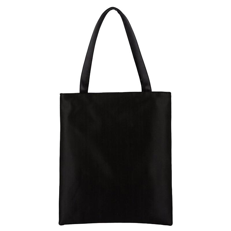 10pcs Fashion Plain Black White Women s Shoulder Bag High Quality Portable Blank Handbag Girls Leisure