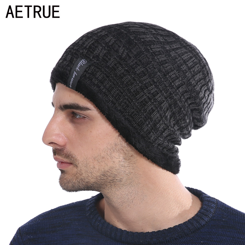 Winter Hat Women Knitted Hat Men   Beanies   Bonnet Caps Baggy Brand Women's Winter Hats For Men Warm Fur   Skullies     Beanie   2018 New