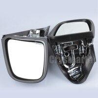 Быстрая доставка хром заднего боковые зеркала для BMW K1200 K1200LT K1200M 99 08 05 06 зеркало заднего вида Левый и правый пара мотоциклов