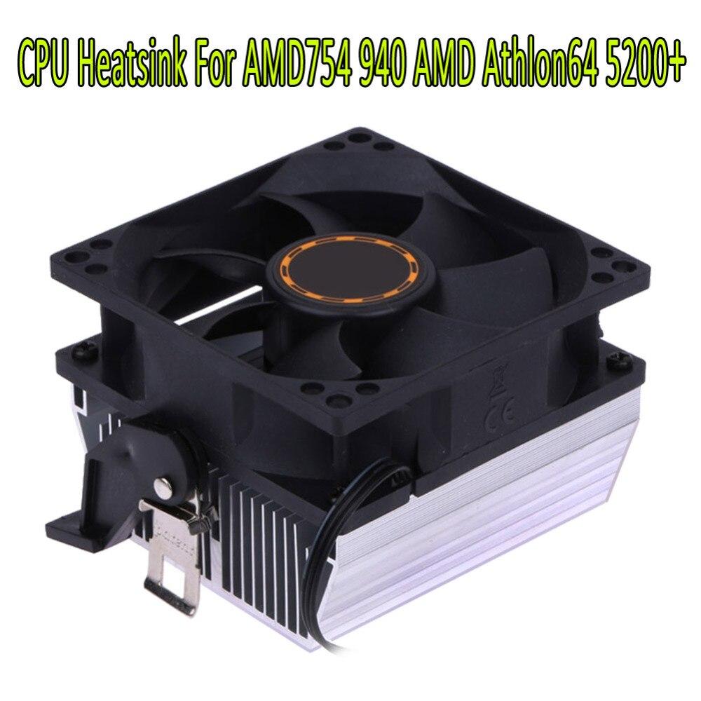 80*80*25mm 3pin Silencioso 7 Lâmina Para AMD CPU Cooling Fan Cooler Dissipador de calor da CPU para AMD754 939 940 AMD Athlon64 5200