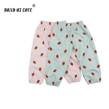 Children Girl Boys Pants Strawberry Printed Cartoon Pant Newborn Baby Cotton Full Length Pants Toddler Girls Clothing For Kids levi s baby boys newborn coulter pant