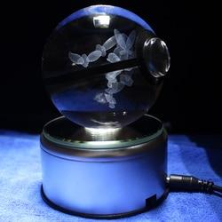 Lopunny Design Crystal Poke Ball 3D Pokemon Figures Kid's Birthday Gifts