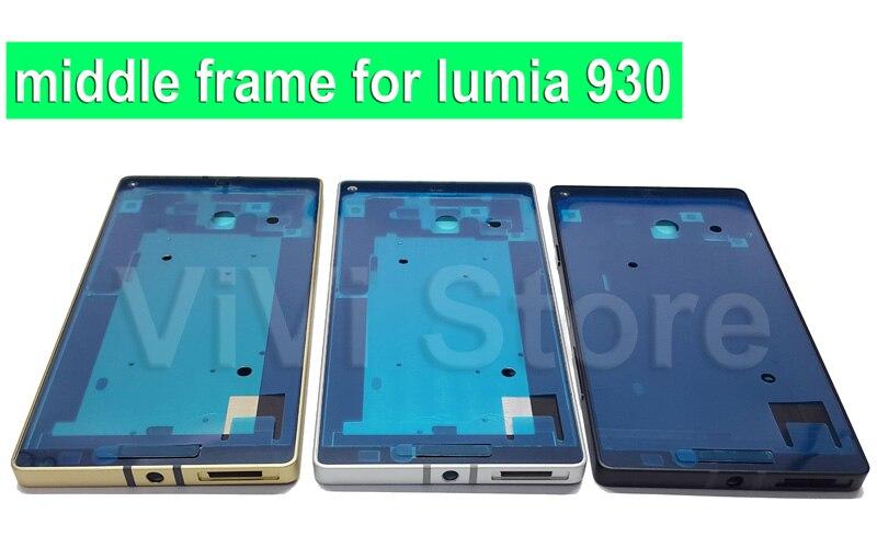 imágenes para 100% Original Nuevo Reemplazo Marco Medio para Nokia lumia 930, carcasa central con botón lateral, envío gratis