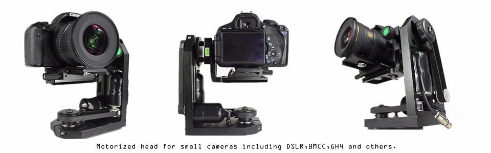 POWERKAM EZ2020 וידאו גרפי מכשיר פאן להטות בקר מנוף חלוץ ממונע מרחוק חמום מוח