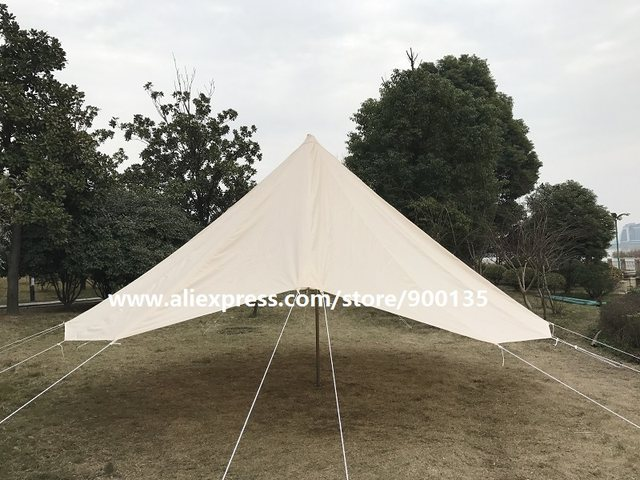 Diameter 4m Waterproof Bell Tent 4 season big tent Outdoor Sibley Gl&ing Tent with Chimney Hole & Online Shop Diameter 4m Waterproof Bell Tent 4 season big tent ...