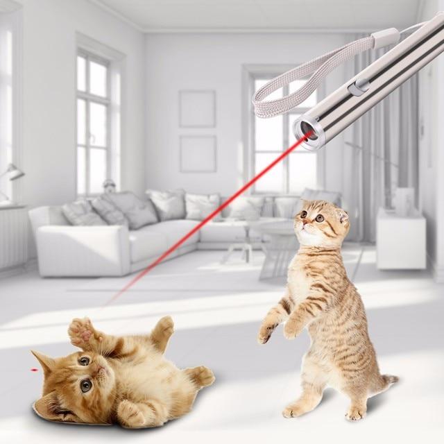 Punto del Laser Giocattolo Gatto Divertente Giocattoli Interattivi Per I Gatti G