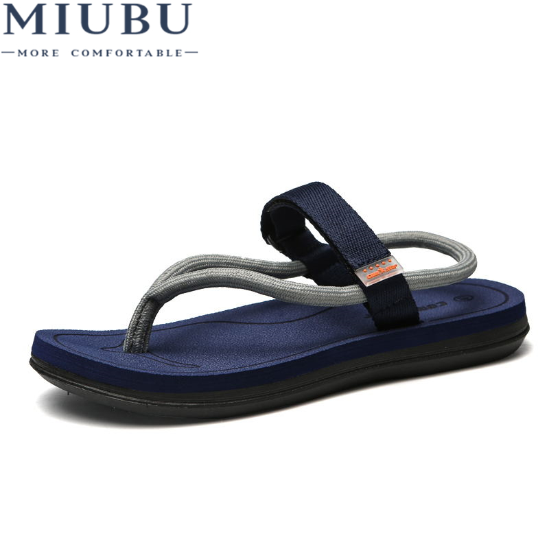 MIUBU Men Sandals Summer Style Men Beach Shoes Hollow Slippers Hole Breathable Flip Flops Non slip Sandals Men Clogs Outside
