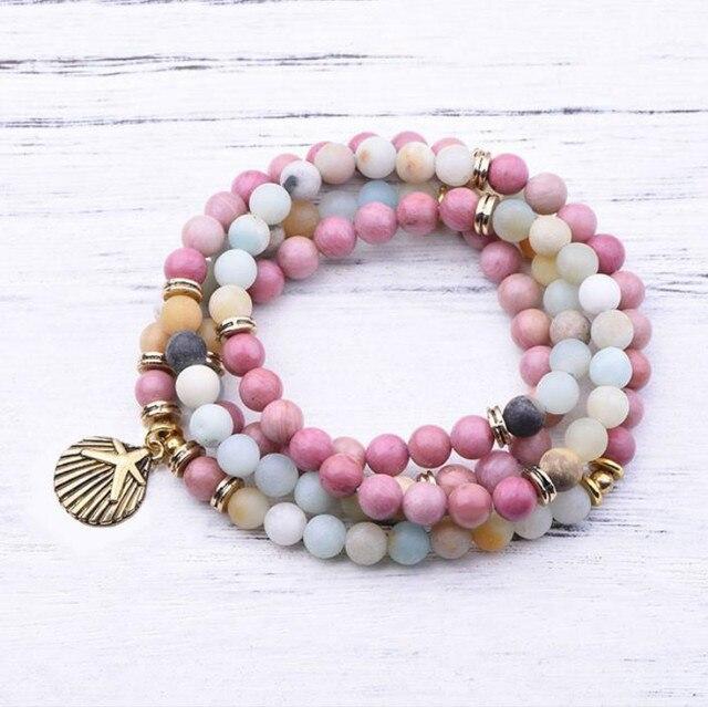 Bracelet Amazonite Et Rhodochrosite