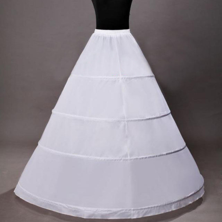 Fashion Wedding Petticoat Ball Gown Slips Crinoline 4 Hoop Petticoats for Wedding Dress Underskirt