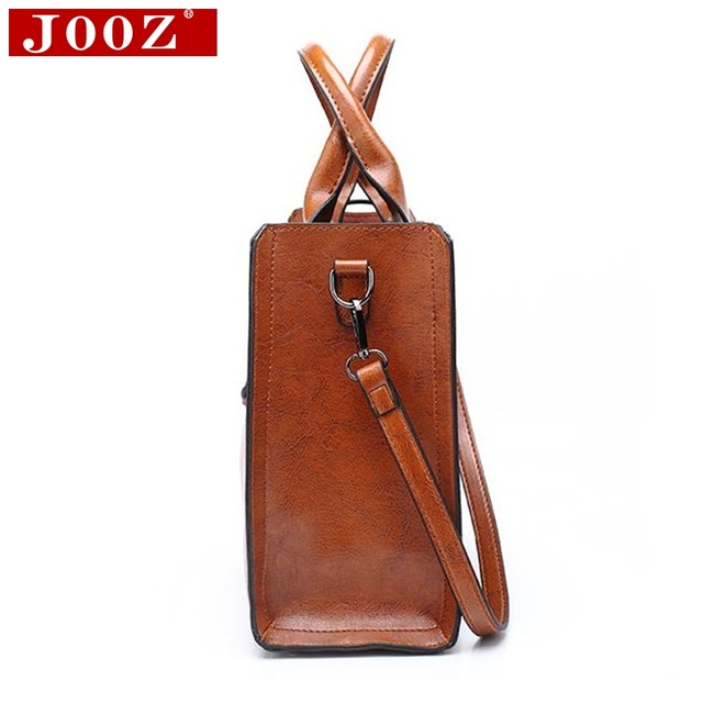 Ladies Oil wax Leather hand bag for Women Famou Brand Trunk Handbags Luxury Designer Femme Casual Tote large Travel Shoulder Bag 2