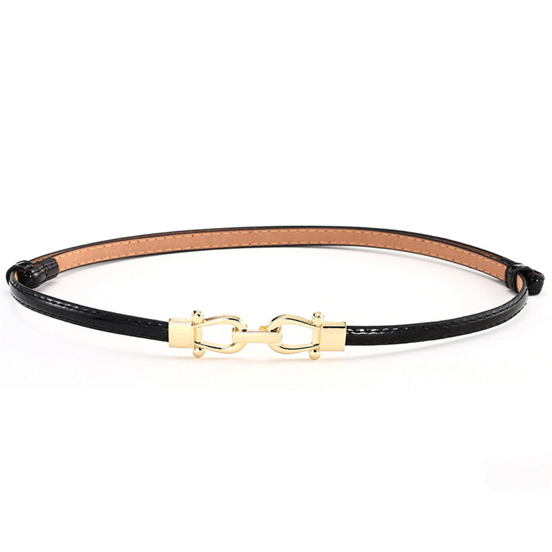 Belts For Women FashionWoman Girl Candy Colours Strap Leather Belt Waistband For Dress Shirt Leather Belt Women 2018 40AG302