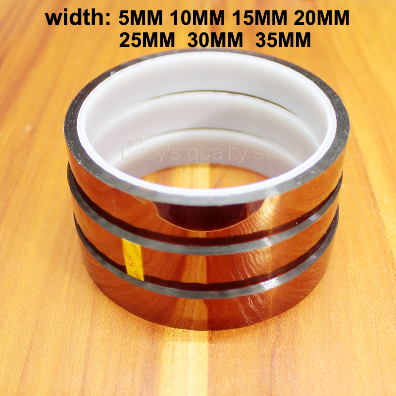 30M Gold finger high temperature insulating adhesive tape Polyimide brown industrial tape 20MM wide for 3D printer30M Gold finger high temperature insulating adhesive tape Polyimide brown industrial tape 20MM wide for 3D printer