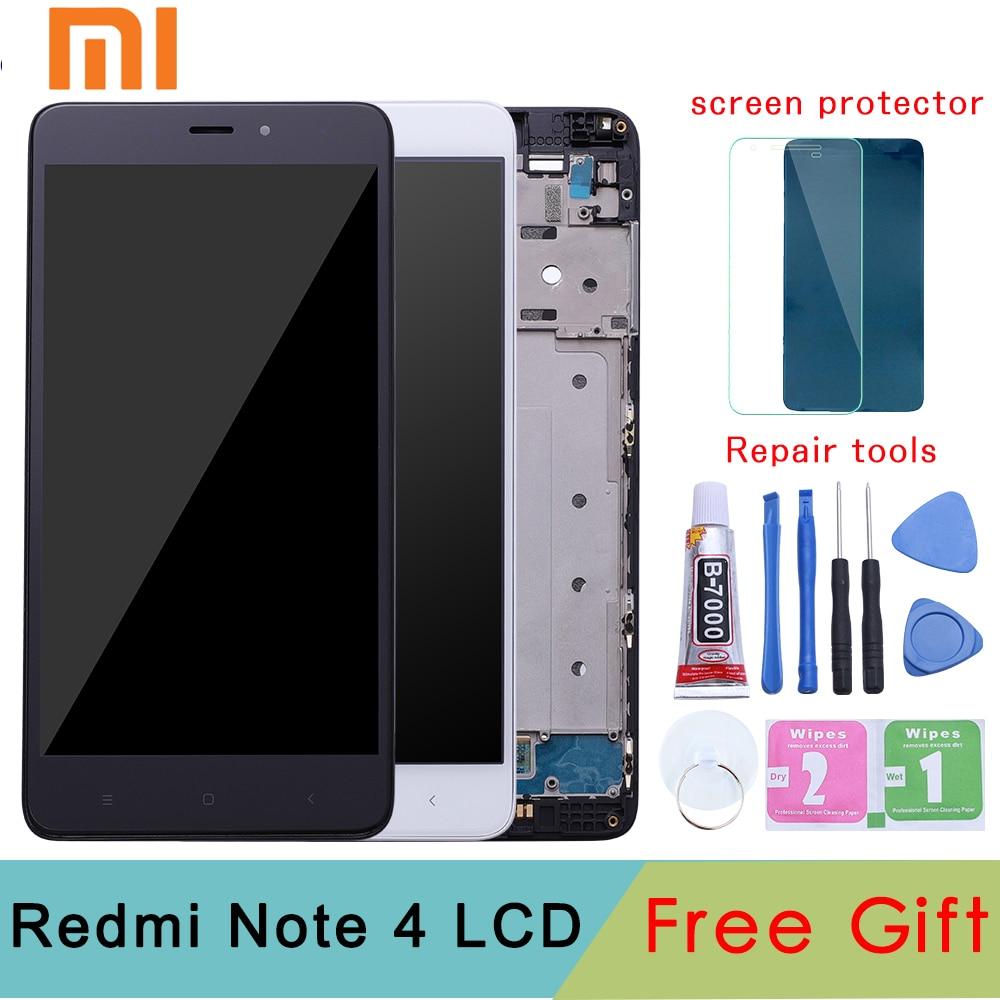 Per Xiaomi Redmi Nota 4 MediaTek Display LCD Telaio Completo di Touch Screen del Pannello Redmi note4 Nota 4 MTK LCD Digitizer pezzi di Ricambio