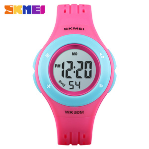 Image 2 - SKMEI Kids Watch LED Sport Style Children Watches Boy Girl Fashion Digital Watch 5Bar Waterproof Watch montre enfant 1455